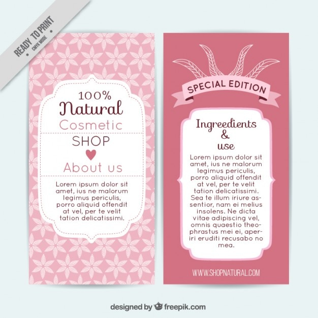 Cosmetics Brochure Template Vector Free Download - Wedding brochures templates free