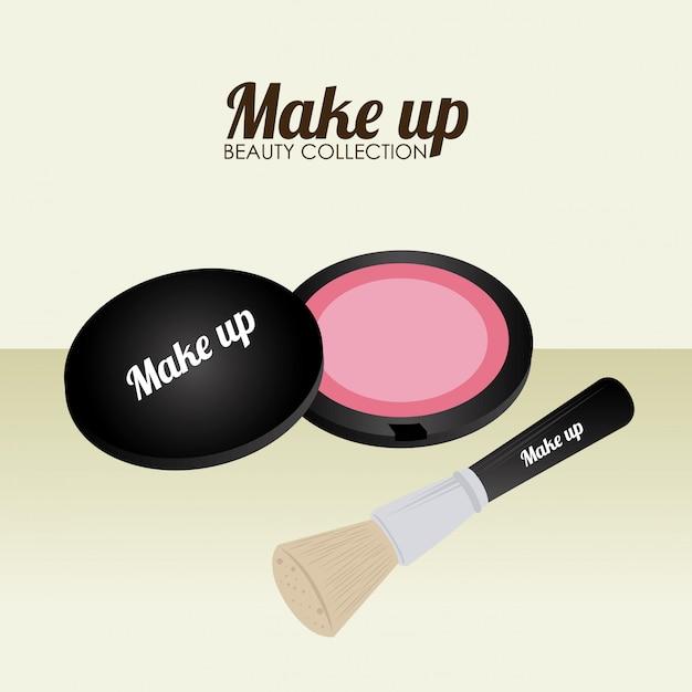 Cosmetics design over beige illustration Free Vector