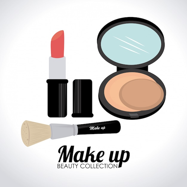Cosmetics design illustration Free Vector