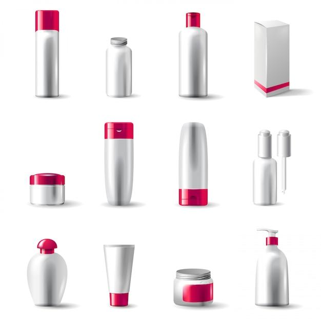 Cosmetics package Premium Vector