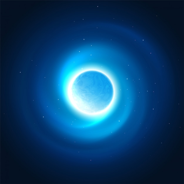Cosmic glow of the planet background. vector illustration Premium Vector
