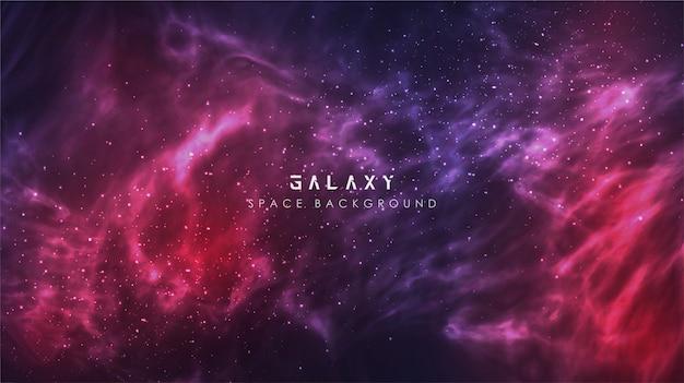 우주 은하수 그라디언트 추상 공간 배너 배경 프리미엄 벡터