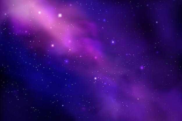 현실적인 스타 더스트와 코스모스 배경; 성운과 빛나는 별. 화려한 갤럭시 배경 막입니다. 프리미엄 벡터