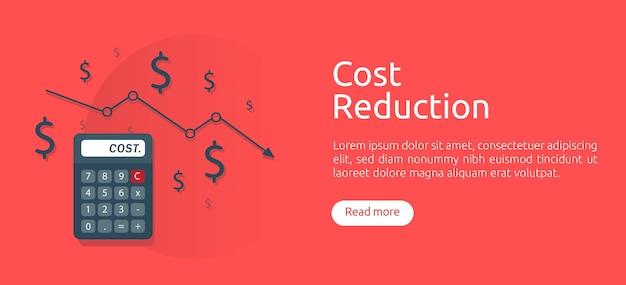 Cost reduction concept Premium Vector
