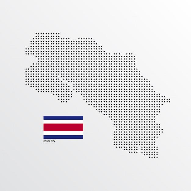 Costa rica map design Free Vector