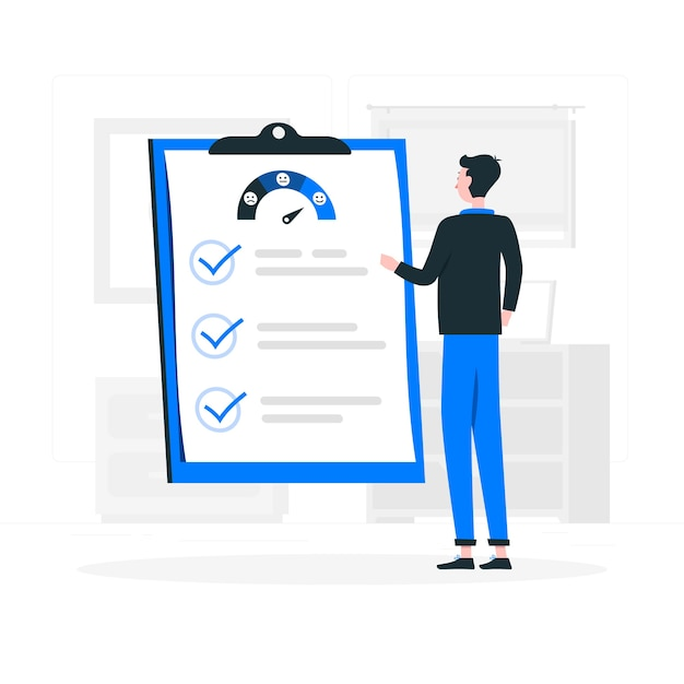 Costumer survey concept illustration Free Vector