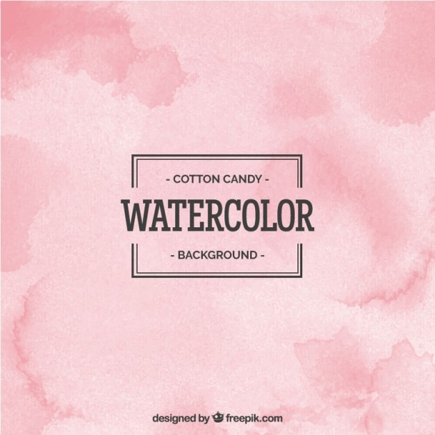 Cotton cady watercolor background Free Vector