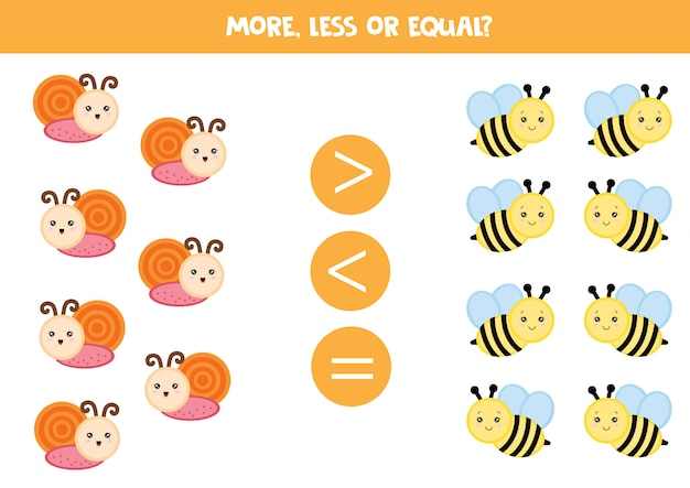 Count snails and bees Premium Vector