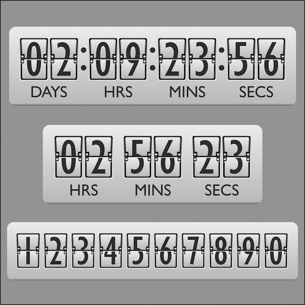 Countdown clock timer Free Vector