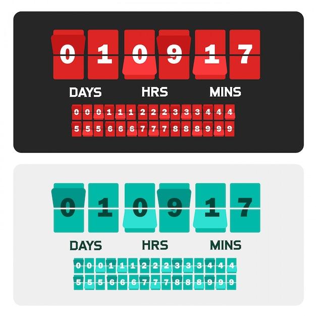 Countdown counter template banner Premium Vector