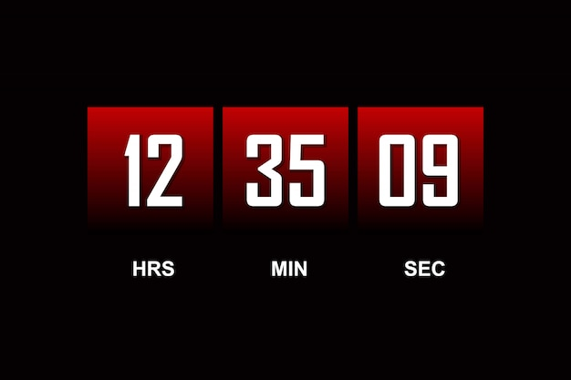 Countdown template digital clock timer background for coming soon. Premium Vector