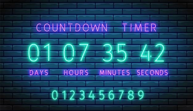 Countdown timer. Premium Vector