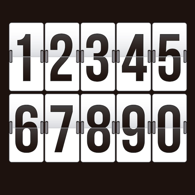Countdown timer Premium Vector