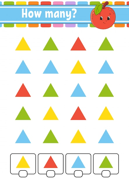 Counting game. Premium Vector