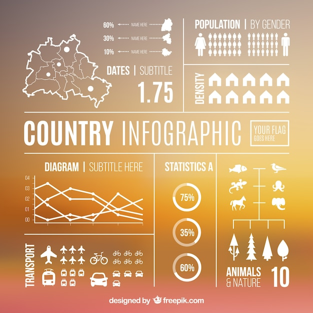 Country infographic