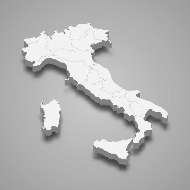Italia Cartina Vettoriale.Premium Vector Country Map With Borders