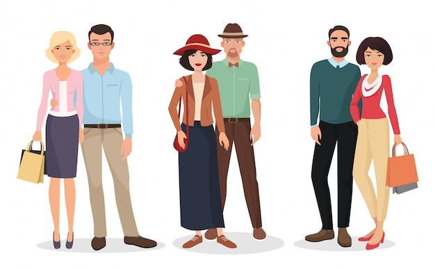 Couple of adults people Premium Vector