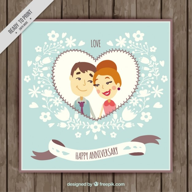 Couple anniversary invitation vector premium download couple anniversary invitation premium vector stopboris Choice Image