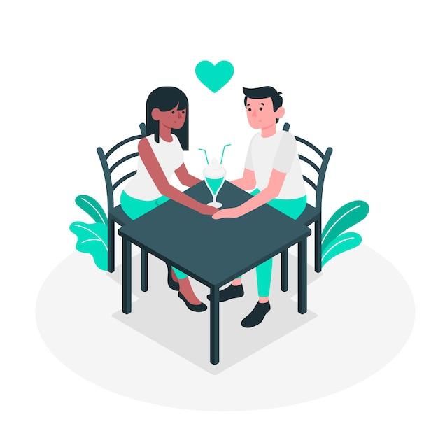 Couple concept illustration Free Vector
