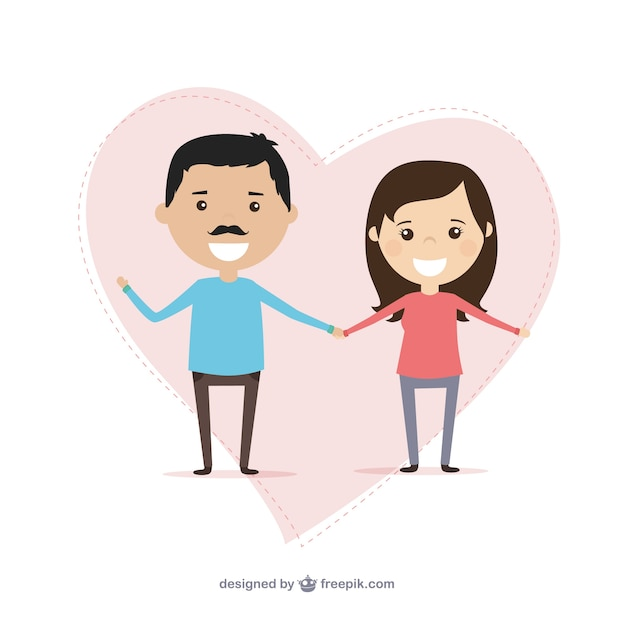 Couple in love illustration
