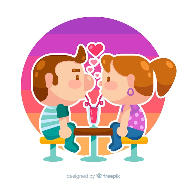 Couple in love Free Vector