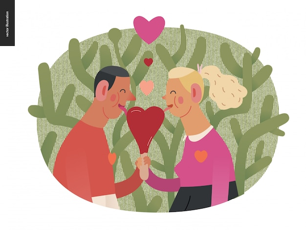 Couple in love Premium Vector