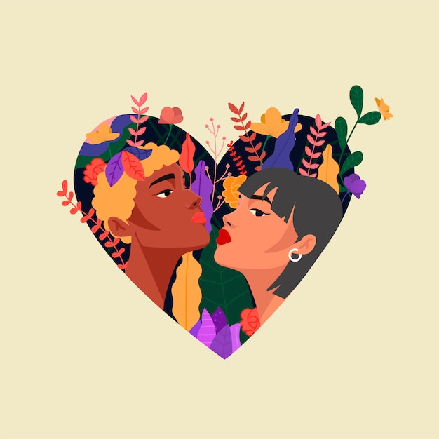 Couple lovers Free Vector