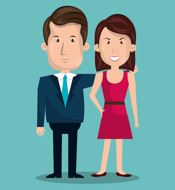 Couple relationship Free Vector