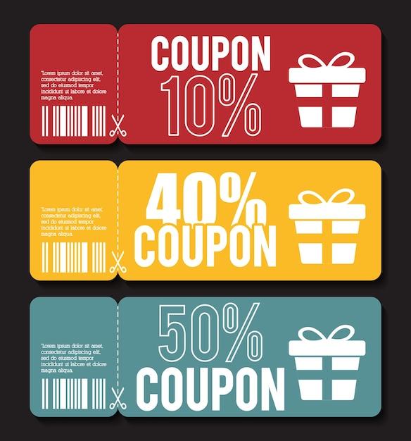 Coupon design. sale icon. shopping concept Premium Vector