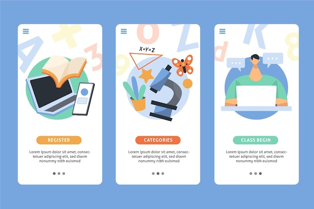 Course app style Free Vector