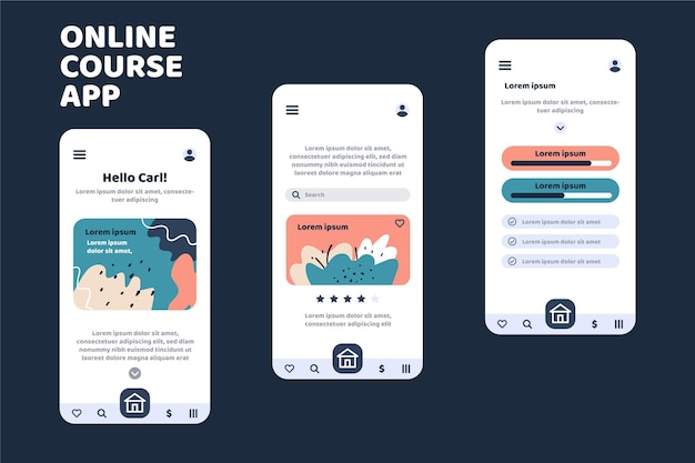 Course app template Free Vector