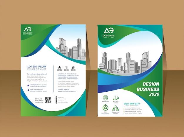 Cover book brochure layout annual report Premium Vector