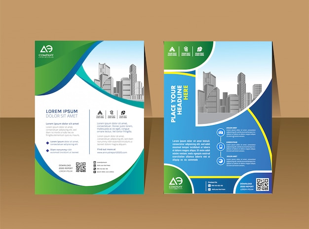 Cover book brochure layout annual report Premium Vector