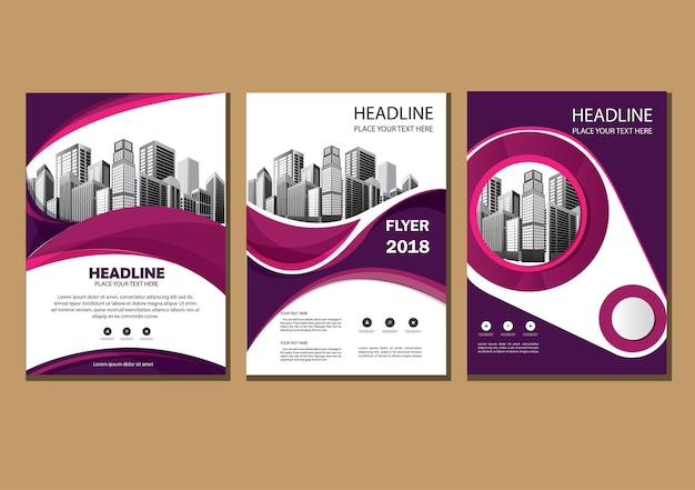 Cover brochure layout annual report poster flyer with geometric shape Premium Vector