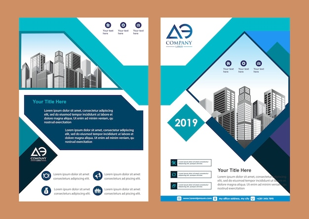 Cover brochure magazine catalog for annual report Premium Vector
