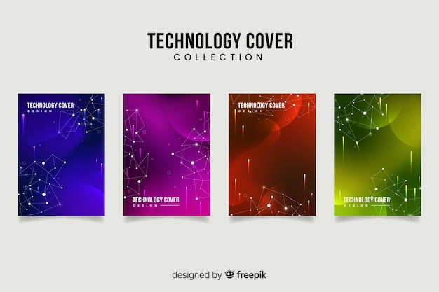 Cover collection Free Vector