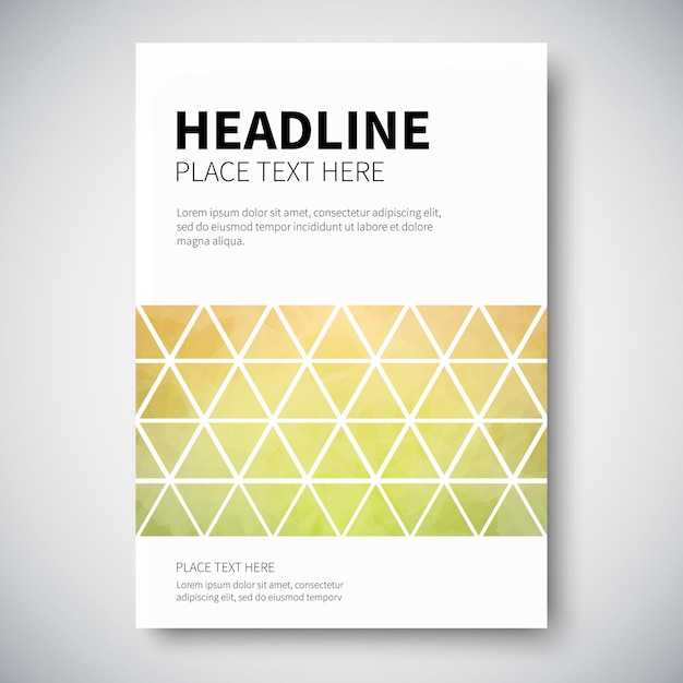 Cover design with abstract colorful triangulated lined geometry Premium Vector