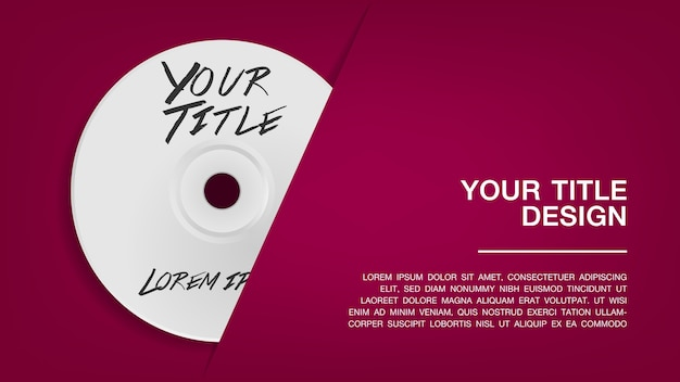Cover disc design template Premium Vector