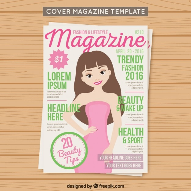 Cover Fashion Magazine Template Vector Free Download