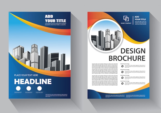 Cover flyer and brochure business template for annual report Premium Vector