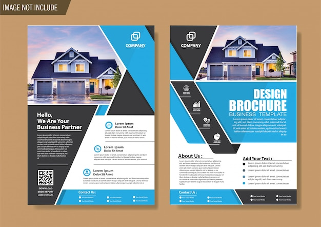 Cover flyer and brochure business template for design annual report Premium Vector