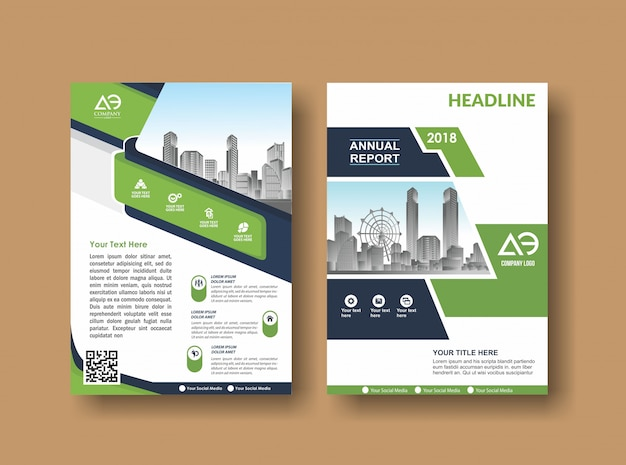 Cover layout brochure flyer for event and report Premium Vector