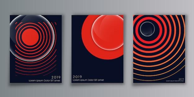 Cover minimal design background Premium Vector