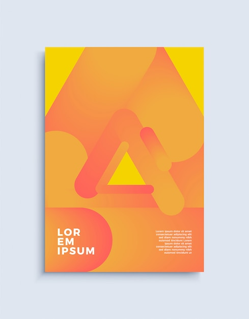 Cover modern abstract design template. Premium Vector