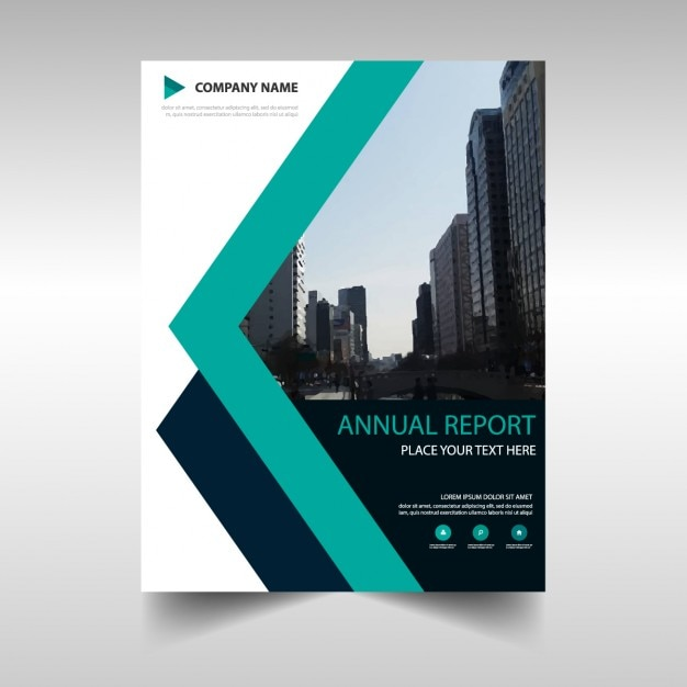 Cover of lines annual report Vector | Free Download