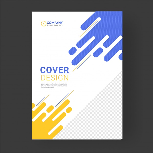 Cover page or template design layout for corporate sector. Premium Vector