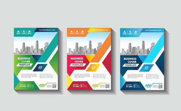 Cover poster a4 catalog book brochure flyer layout annual report business template Premium Vector