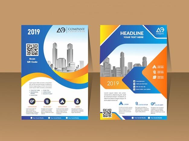 Cover template a4 size business brochure design Premium Vector