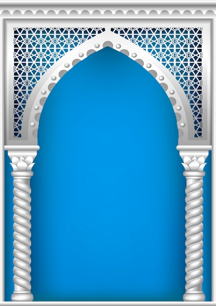 Cover with the arab arch Premium Vector