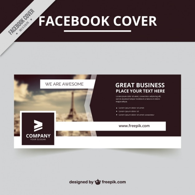 Cover with a blurred background Free Vector